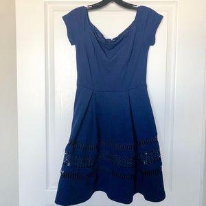 Francesca's Collection Navy blue a-line dress